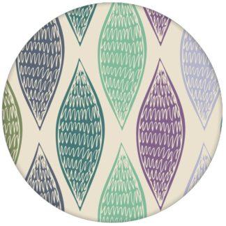 """Grüne moderne Design Tapete """"Regenbogen Waben"""" mit bunten Farben"""