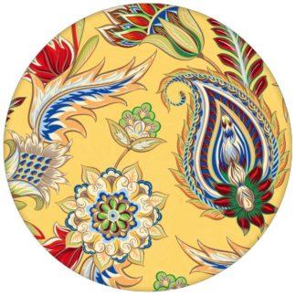 """Gelbe edle Design Tapete """"Classic Paisley"""" mit dekorativem Blatt Muster (klein) für Wohnzimmeraus dem GMM-BERLIN.com Sortiment: gelbe Tapete zur Raumgestaltung: #Ambiente #floral #gelb #interior #interiordesign #Paisley #Schöner Wohnen #Stil #üppig für individuelles Interiordesign"""