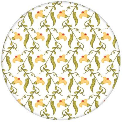 """Klassische florale Tapete """"Happy Peas"""" mit blühenden Erbsen Ranken (klein) für Küche Flur aus den Tapeten Neuheiten Blumentapeten und Borten als Naturaltouch Luxus Vliestapete oder Basic Vliestapete"""