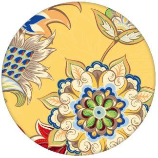 """Groß gemusterte gelbe Design Tapete """"Classic Paisley"""" mit dekorativem Blatt Muster für Wohnzimmer"""