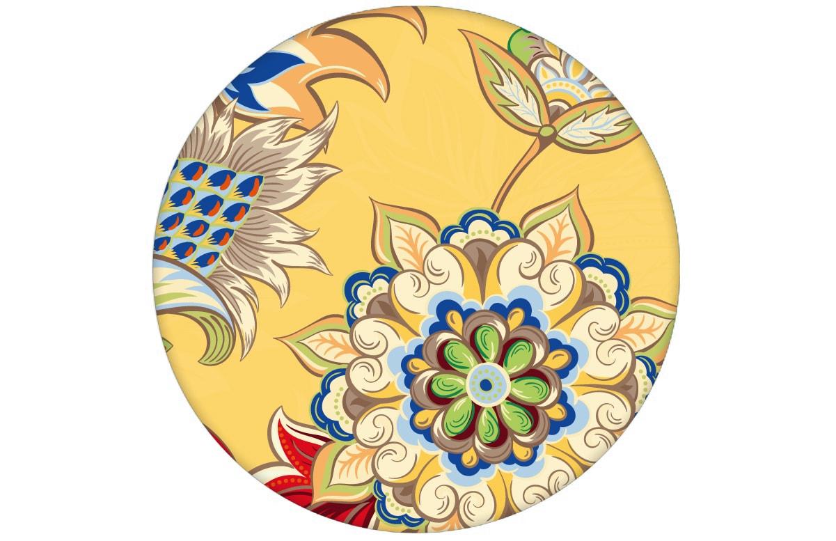 Groß gemusterte gelbe Design Tapete