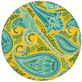 """Gelbe edle Design Tapete """"Grand Paisley"""" mit großem dekorativem Blatt Muster für Küche Bad Flur"""