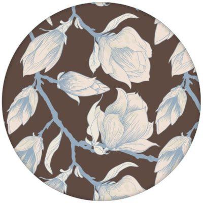 """Edle braun Blumen Tapete """"Blooming Magnolia"""" mit blühender Magnolie für Schlafzimmeraus dem GMM-BERLIN.com Sortiment: braune Tapete zur Raumgestaltung: #blueten #blühen #blumen #braun #fruehling #Little Greene #Magnolie #schlafen #Wohnzimmer für individuelles Interiordesign"""