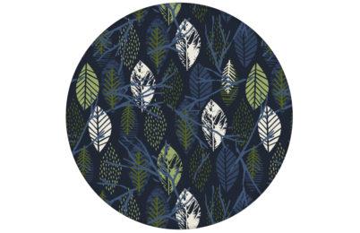 """Grafische Tapete """"Im Blätterwald"""" in dunkelblau angepasst an Scala Wandfarben"""
