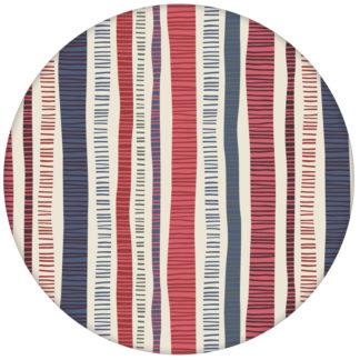 "Bunte Streifentapete ""Dotted Lines"" in blau rosa moderne Wandgestaltung"
