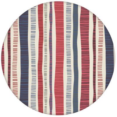 """Bunte Streifentapete """"Dotted Lines"""" in blau rosa moderne Wandgestaltung aus den Tapeten Neuheiten Exklusive Tapete für schönes Wohnen als Naturaltouch Luxus Vliestapete oder Basic Vliestapete"""