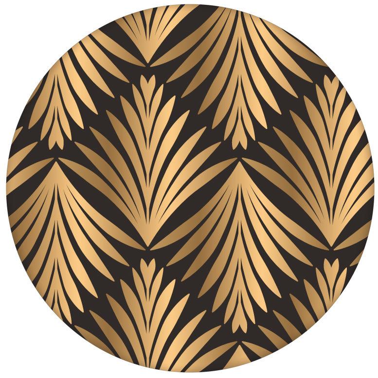 "klassische Ornament Tapete ""Art Deco Akanthus"" mit Blatt Muster in braun edle Wandgestaltung"