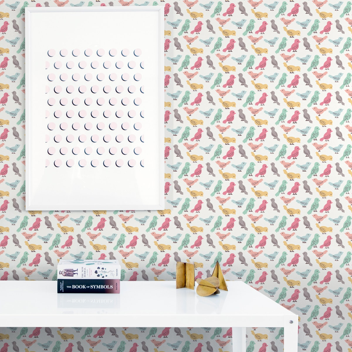 Wandtapete weiss: lustige Design Tapete