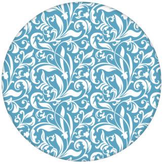 """feine florale Tapete """"Victorian Delight"""" mit victorianischem Blatt Muster hellblau für Küche oder Schlafzimmer"""