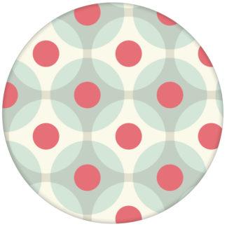 """Moderne Retro Vliestapete """"Flower Dots"""" mit großen Punkten in türkis aus den Tapeten Neuheiten Exklusive Tapete für schönes Wohnen als Naturaltouch Luxus Vliestapete oder Basic Vliestapete"""