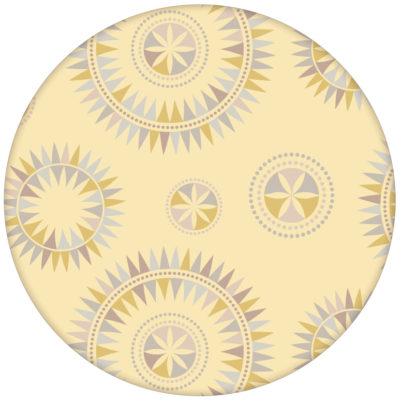 """Grafisch moderne Tapete """"Windrose"""" mit nordischem Design, Wandgestaltung gelbaus dem GMM-BERLIN.com Sortiment: gelbe Tapete zur Raumgestaltung: #gelb #Little Greene für individuelles Interiordesign"""