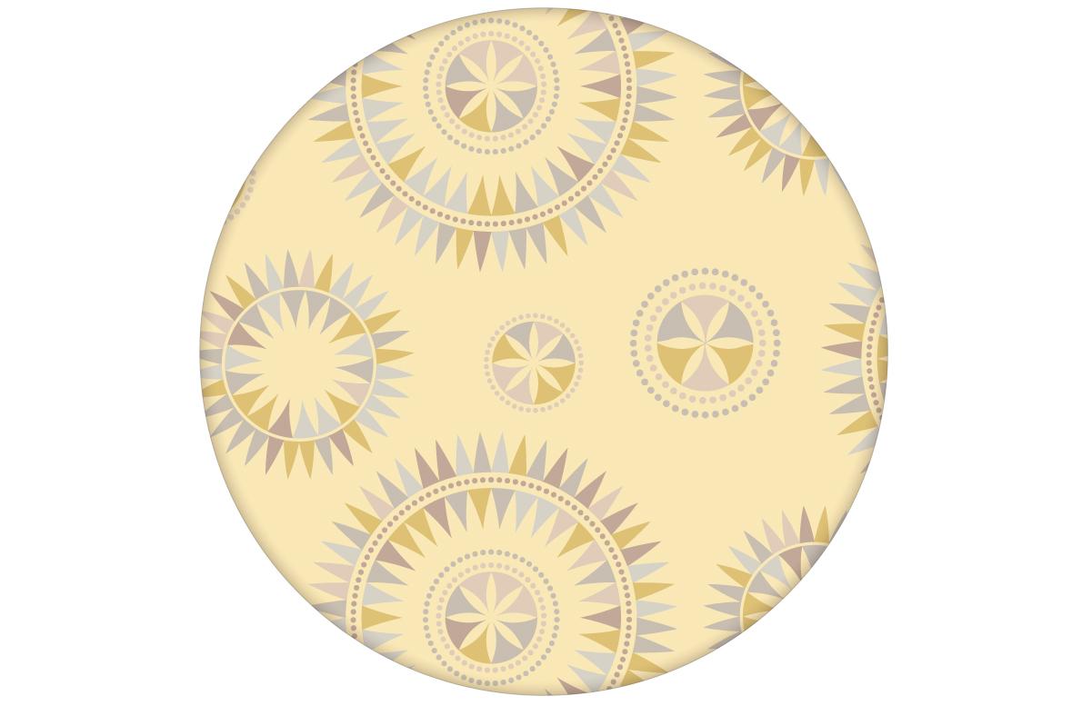 """Grafisch moderne Tapete """"Windrose"""" mit nordischem Design, Wandgestaltung gelb"""