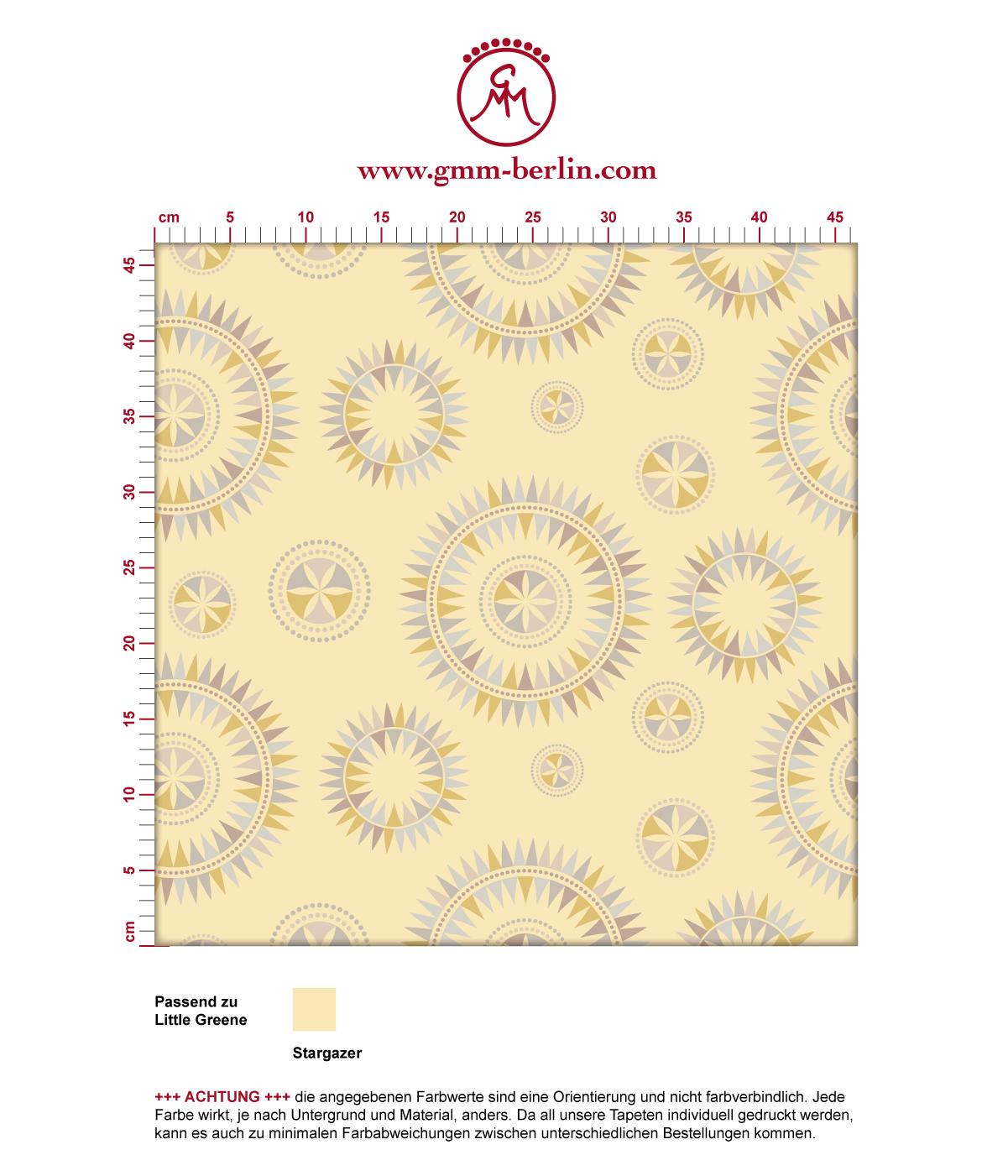 Grafisch moderne Tapete