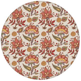 """Bunte florale Tapete """"Little India"""" mit folklore Muster in grauaus dem GMM-BERLIN.com Sortiment: beige Tapete zur Raumgestaltung: #FarrowandBall für individuelles Interiordesign"""