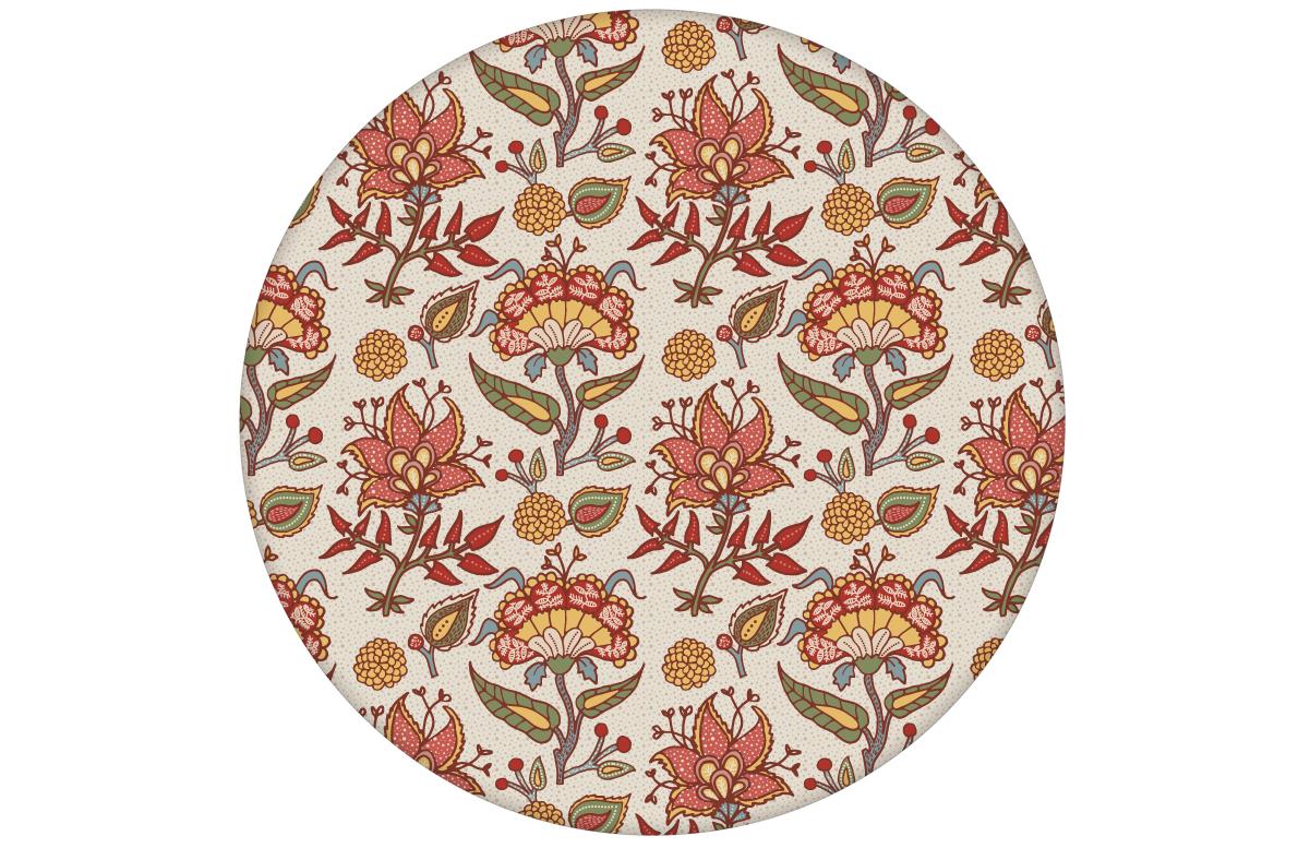 Bunte florale Tapete