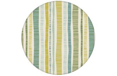 """Grüne """"Dotted Lines"""" Tapete mit bunten Streifen angepasst an Farrow and Ball Wandfarben"""