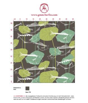 """""""Angler Glück"""" Retro Fisch Tapete im Stil der 70er in braun angepasst an Ikea Wandfarben"""