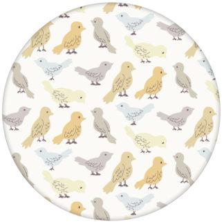 """Vogel Tapete """"Alle Vöglein"""" mit einem Schwarm bunter Vögel beige grau für Küche Gästezimmer"""