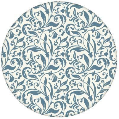 """florale Tapete """"Victorian Delight"""" mit victorianischem Blatt Muster blau für Küche & Schlafzimmer"""