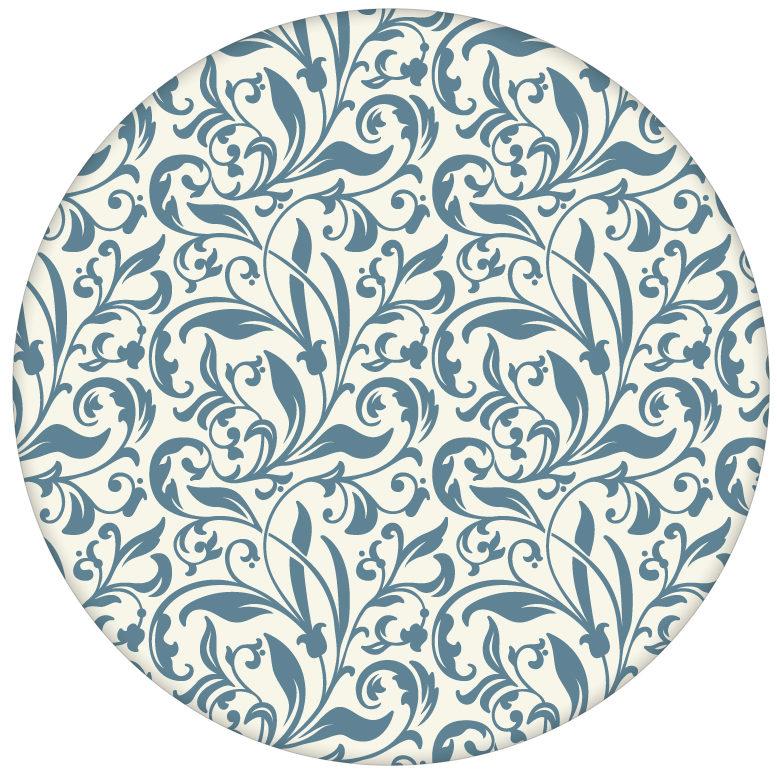 """florale Tapete """"Victorian Delight"""" mit victorianischem Blatt Muster blau für Küche & Schlafzimmer aus den Tapeten Neuheiten Blumentapeten und Borten als Naturaltouch Luxus Vliestapete oder Basic Vliestapete"""