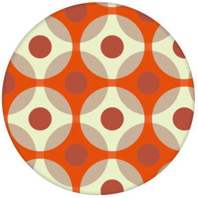 "Punkte Tapete ""Flower Dots"", orange Wandgestaltung"