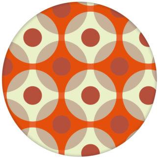 """Punkte Tapete """"Flower Dots"""", orange Wandgestaltungaus dem GMM-BERLIN.com Sortiment: orange Tapete zur Raumgestaltung: #Grafik #orange #ornamente #punkte #Schöner Wohnen #tapete für individuelles Interiordesign"""