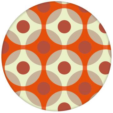 """Punkte Tapete """"Flower Dots"""", orange Wandgestaltung"""