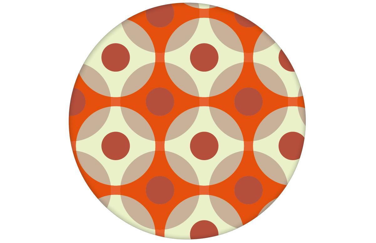 """Punkt Tapete """"Flower Dots"""" in orange angepasst an Schöner Wohnen Wandfarben"""