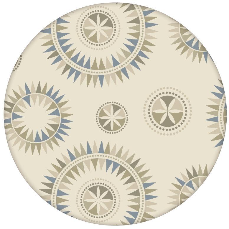 """Moderne Tapete """"Windrose"""" mit nordischem Design Wandgestaltung beige"""