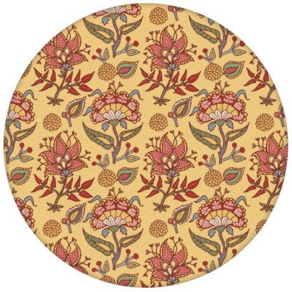 """Sonnige florale Tapete """"Little India"""" mit folklore Muster in gelb aus den Tapeten Neuheiten Exklusive Tapete für schönes Wohnen als Naturaltouch Luxus Vliestapete oder Basic Vliestapete"""