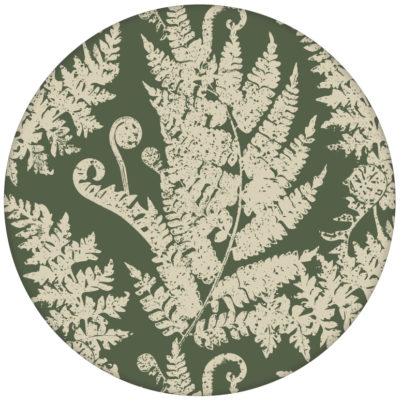 """""""Heidis Fernerie"""" Design Tapete mit großem Farn Muster in grün aus den Tapeten Neuheiten Blumentapeten und Borten als Naturaltouch Luxus Vliestapete oder Basic Vliestapete"""