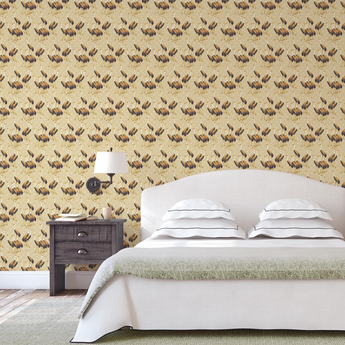 Tapete Wohnzimmer creme: Feine Design Tapete