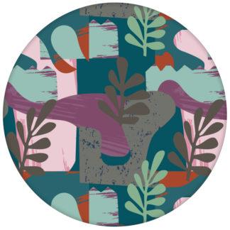 """Moderne Retro Design Tapete """"Exotic Leaf"""" im Stil der 70er in grünaus dem GMM-BERLIN.com Sortiment: rote Tapete zur Raumgestaltung: #Blätter #gruen #Ikea #Natur #Retro #tapete für individuelles Interiordesign"""