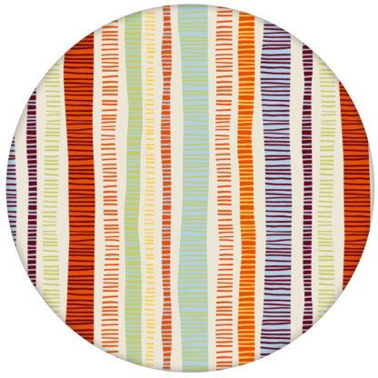 """Frische orange """"Dotted Lines"""" Design Tapete mit bunten Streifen für Büro Küche Fluraus dem GMM-BERLIN.com Sortiment: orange Tapete zur Raumgestaltung: #FarrowandBall #Grafik #modern #orange #streifen #tapete für individuelles Interiordesign"""