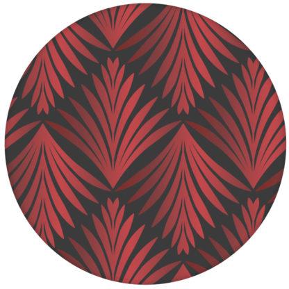 """Ornament Tapete """"Art Deco Akanthus"""" mit klassischem Blatt Muster, Wandgestaltung grau rotaus dem GMM-BERLIN.com Sortiment: rote Tapete zur Raumgestaltung: #Art Deco #Blätter #klassisch #Little Greene #tapete für individuelles Interiordesign"""