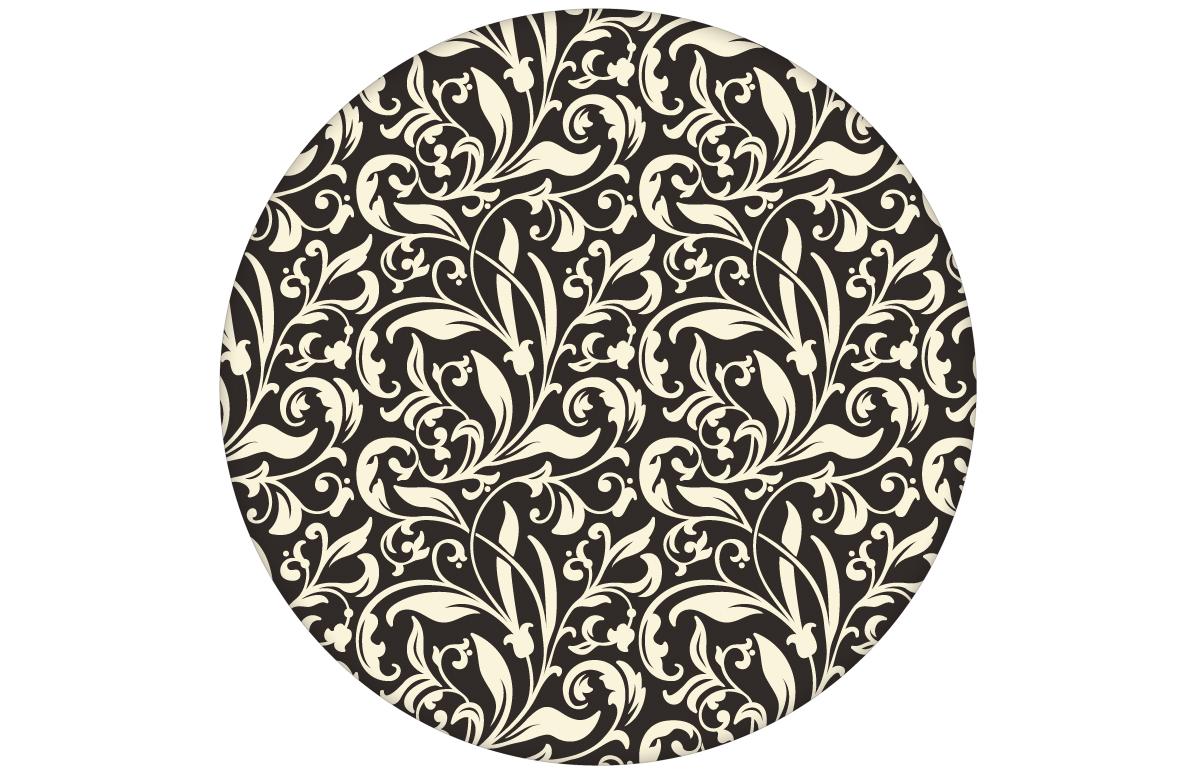 """Victorianische florale Tapete """"Victorian Delight"""" mit victorianischem Blatt Muster Farbe braun"""