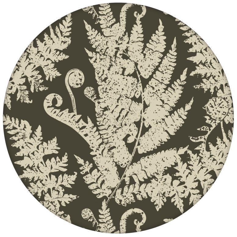 """Elegante Urwald Tapete """"Heidis Fernerie"""" mit großem Farn Muster in braun grün aus den Tapeten Neuheiten Blumentapeten und Borten als Naturaltouch Luxus Vliestapete oder Basic Vliestapete"""