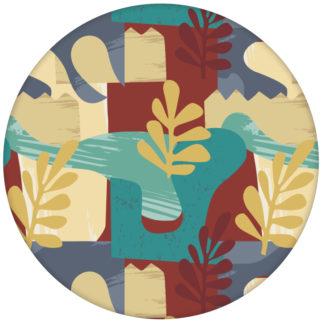 """Exotic Leaf"" Design Tapete im Retro Stil der 70er beige Wandgestaltung"