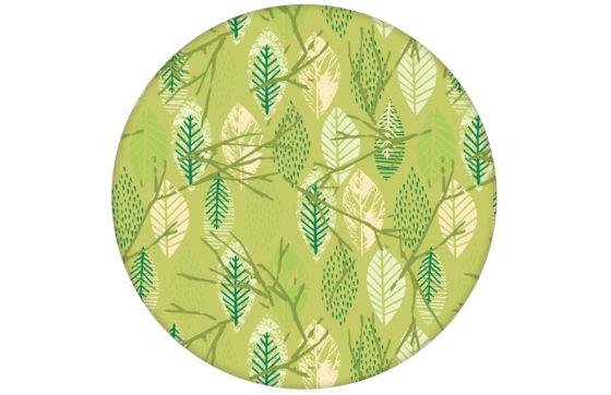 """""""Im Blätterwald"""" - Moderne grafische Design Tapete Wandgestaltung grün"""