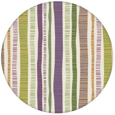 "Streifen Tapete ""Dotted Lines"" in lila moderne Wandgestaltung"