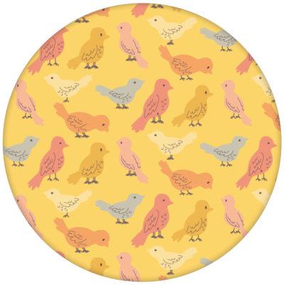 """Sonnig gelbe Vliestapete """"Alle Vöglein"""" mit bunten Vögeln Vliestapete Wandgestaltung aus den Tapeten Neuheiten Exklusive Tapete für schönes Wohnen als Naturaltouch Luxus Vliestapete oder Basic Vliestapete"""