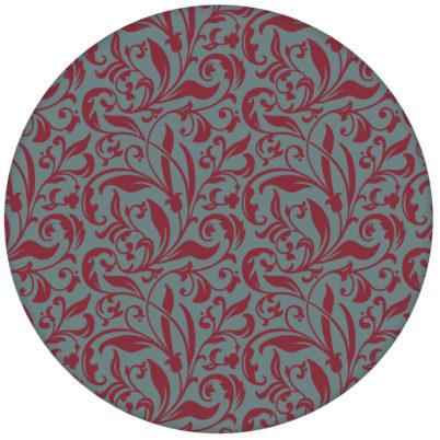 """Rote florale Tapete """"Victorian Delight"""" mit victorianischem Blatt Muster edle Wandgestaltung"""