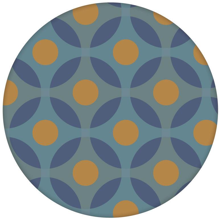 """Moderne Retro Vliestapete """"Flower Dots"""" mit großen Punkten in senf orange aus den Tapeten Neuheiten Exklusive Tapete für schönes Wohnen als Naturaltouch Luxus Vliestapete oder Basic Vliestapete"""