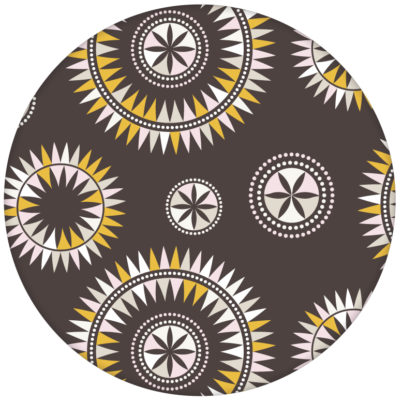 """""""Windrose"""" moderne Tapete mit nordischem Design, Wandgestaltung braun"""