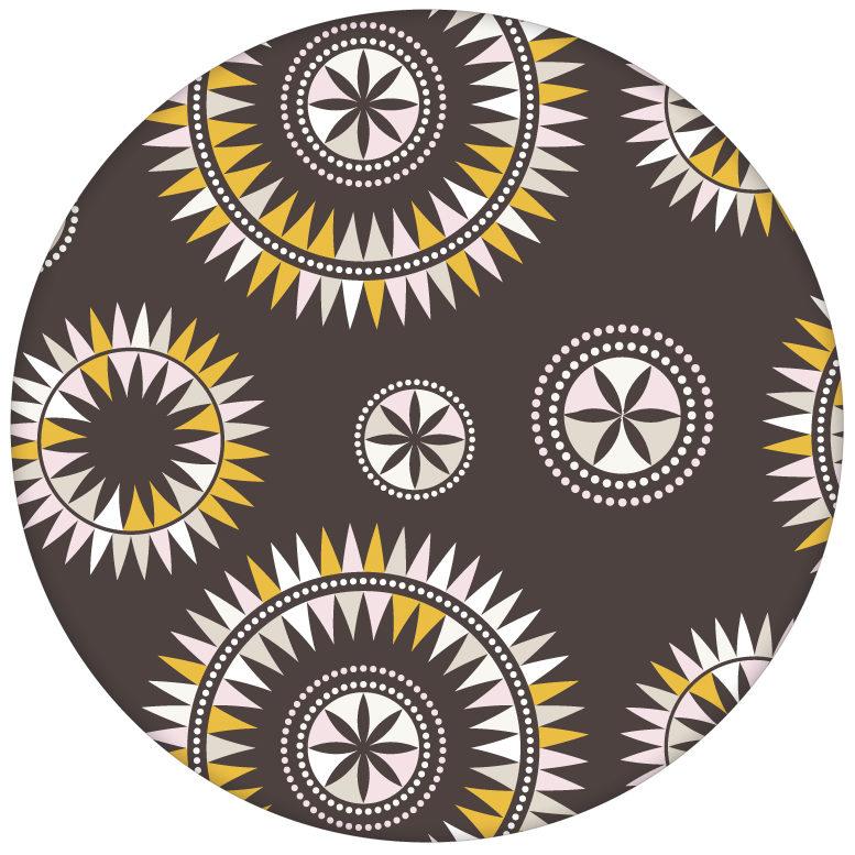 """""""Windrose"""" moderne Tapete mit nordischem Design, Wandgestaltung braunaus dem GMM-BERLIN.com Sortiment: braune Tapete zur Raumgestaltung: #braun #Little Greene für individuelles Interiordesign"""