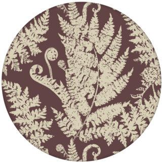 """Farn Design Tapete """"Heidis Fernerie"""" mit großem Muster in braun rot aus den Tapeten Neuheiten Blumentapeten und Borten als Naturaltouch Luxus Vliestapete oder Basic Vliestapete"""