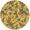 """Gelbe Design Tapete """"Victorias Treasure"""" mit Paradies Vögeln und Blumen im victorianischen Stil"""