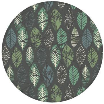 """Schöne Design Tapete """"Im Blätterwald"""" Wandgestaltung grau"""