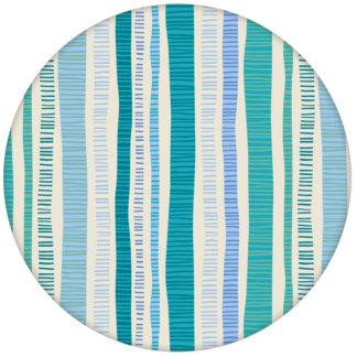 """Lustige Streifentapete """"Dotted Lines"""" in türkis für Küche Flur Schlafzimmeraus dem GMM-BERLIN.com Sortiment: blaue Tapete zur Raumgestaltung: #FarrowandBall #Grafik #modern #streifen #tapete #türkis für individuelles Interiordesign"""