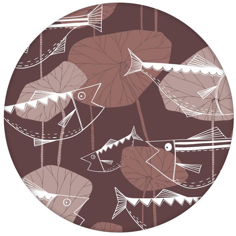 """Edle Fisch Tapete """"Angler Glück"""" im Retro Stil in rot braun Vlies Wandgestaltung aus den Tapeten Neuheiten Exklusive Tapete für schönes Wohnen als Naturaltouch Luxus Vliestapete oder Basic Vliestapete"""